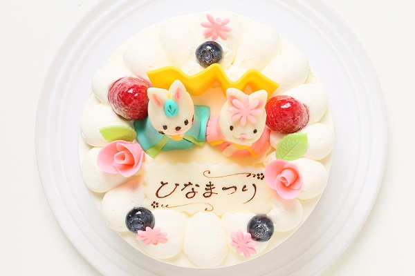 ひな祭りケーキ 5号 15cm ひなまつり限定の画像2枚目