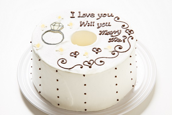 ホワイトデー限定 プロポーズお手紙ケーキ 直径21cmの画像1枚目