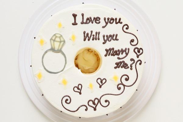 ホワイトデー限定 プロポーズお手紙ケーキ 直径21cmの画像2枚目