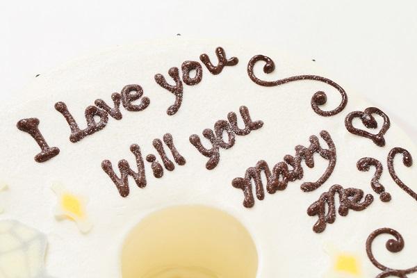 ホワイトデー限定 プロポーズお手紙ケーキ 直径21cmの画像6枚目