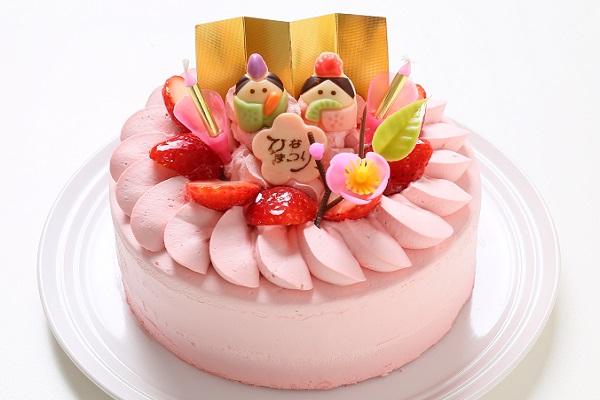 雛祭り苺デコレーションケーキ
