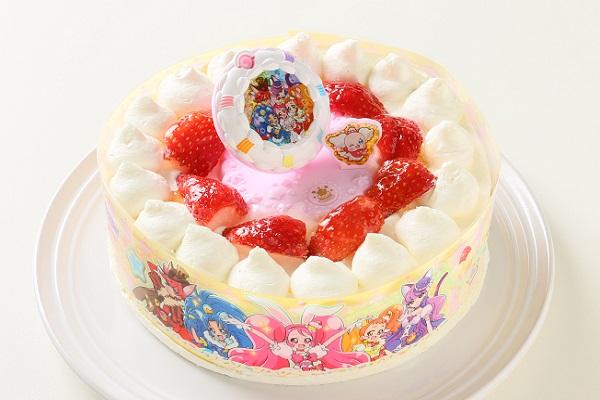 卵・乳製品・小麦粉除去可能 生デコレーションケーキ プリキュアアラモード  5号 15cm