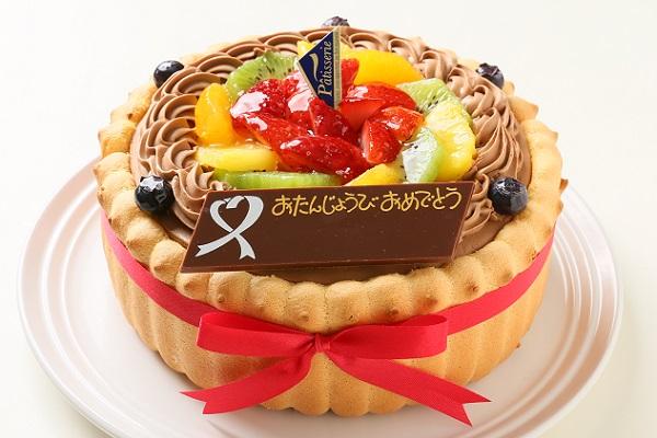 贅沢生チョコデコレーション ビスキュイ付き 4号 12cm