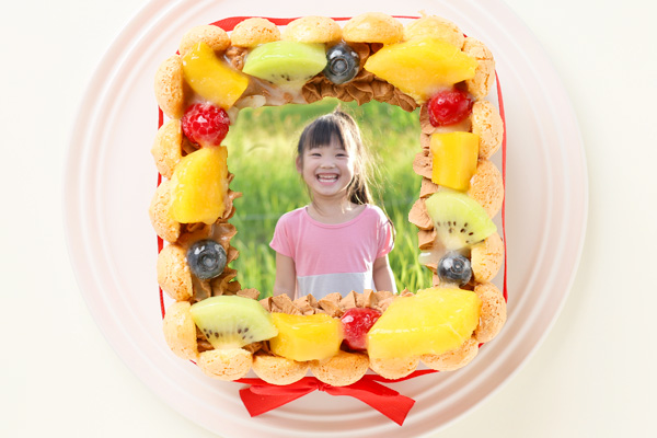 スペシャルチョコフォトケーキ 15×15cmの画像2枚目