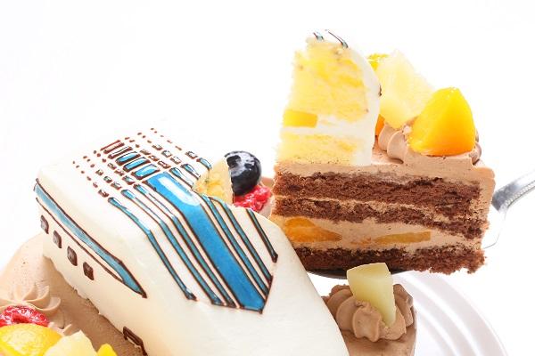 のりもの立体生クリームデコレーションケーキ 5号 15cmの画像9枚目