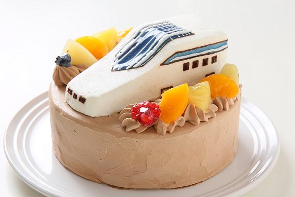 のりもの立体生クリームデコレーションケーキ 5号 15cmの画像5枚目