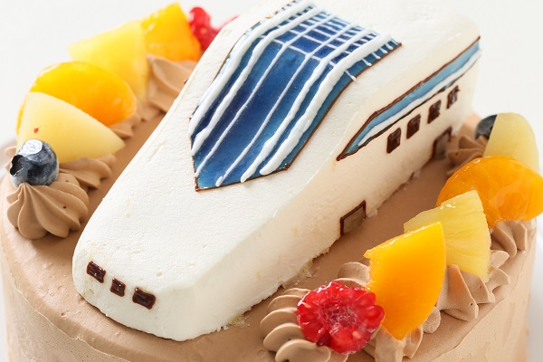 のりもの立体生クリームデコレーションケーキ 5号 15cmの画像15枚目
