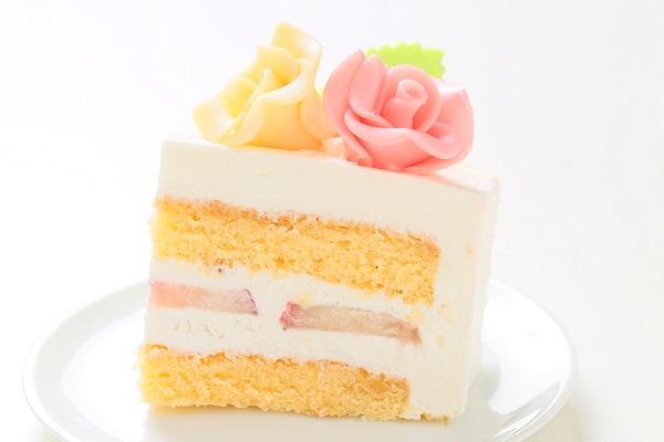 プレゼントボックスケーキ W ホワイト 15×5cmの画像4枚目