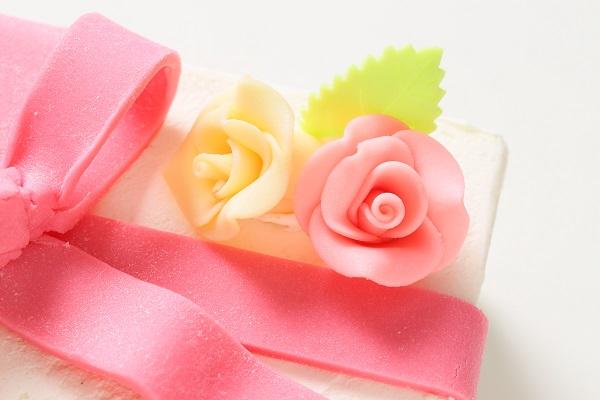 プレゼントボックスケーキ W ホワイト 15×5cmの画像7枚目