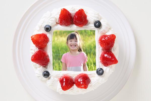 卵・乳製品・小麦粉除去 アレルギー対応カラーフォトケーキ 5号 15cmの画像1枚目