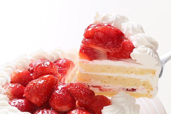 卵・乳製品・小麦粉除去 苺デコレーションケーキ 4号 12cmの画像3枚目