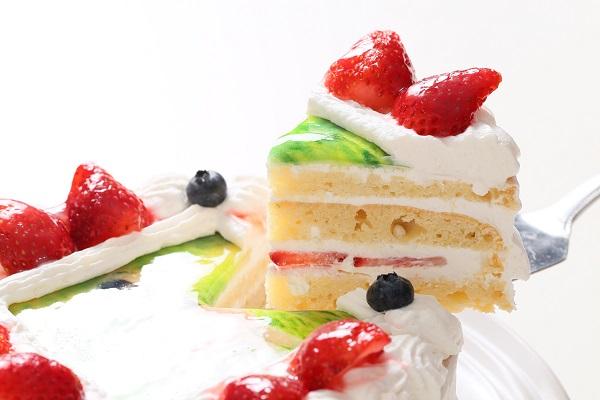 卵・乳製品・小麦粉除去 アレルギー対応カラーフォトケーキ 5号 15cmの画像3枚目
