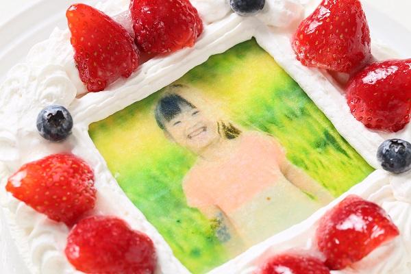 卵・乳製品・小麦粉除去 アレルギー対応カラーフォトケーキ 5号 15cmの画像6枚目