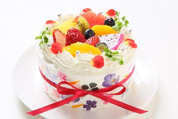 食べられるお花 エディブルフラワーケーキ