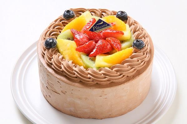 フレッシュフルーツ乗せ生チョコクリームのショートケーキ 4号 12cm