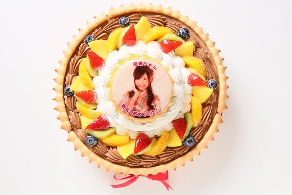 写真ケーキ ダブルタワーデコレーション 8号+4号 2段