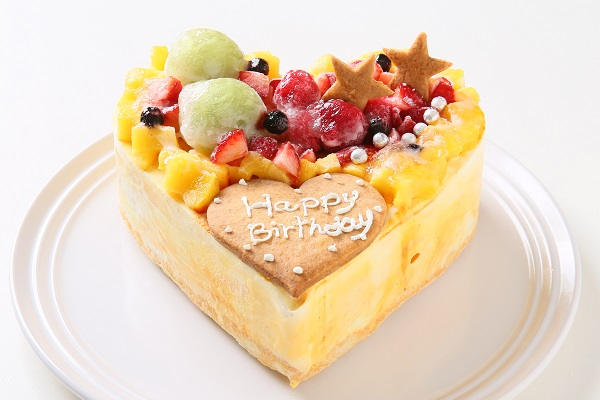 マンゴーアイスクリームのデコレーションケーキ 4号 12cm