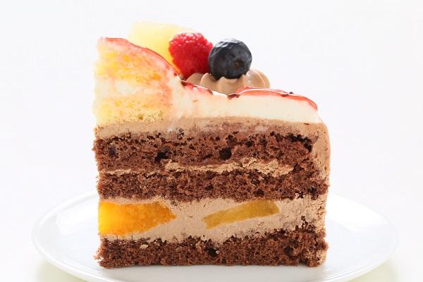 立体チョコクリームデコレーションケーキ 5号 15cmの画像7枚目