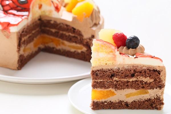 立体チョコクリームデコレーションケーキ 5号 15cmの画像8枚目