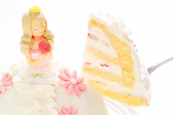 プリンセスケーキ 眠り姫ホワイト 5号 15cmの画像3枚目