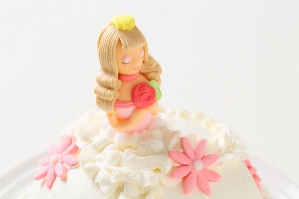 プリンセスケーキ 眠り姫ホワイト 5号 15cmの画像6枚目