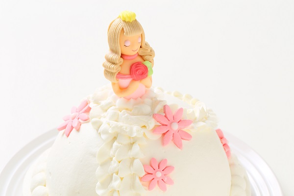 プリンセスケーキ 眠り姫ホワイト 5号 15cmの画像8枚目