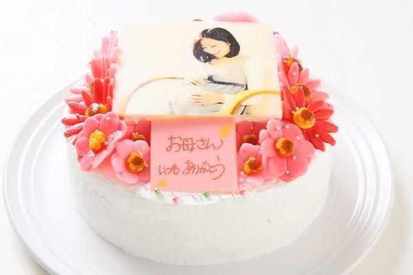 お花いっぱいフォトケーキ 生クリーム 5号 15cmの画像2枚目