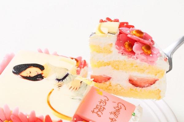 お花いっぱいフォトケーキ 生クリーム 5号 15cmの画像3枚目