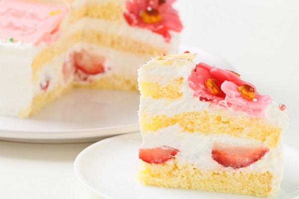 お花いっぱいフォトケーキ 生クリーム 5号 15cmの画像5枚目