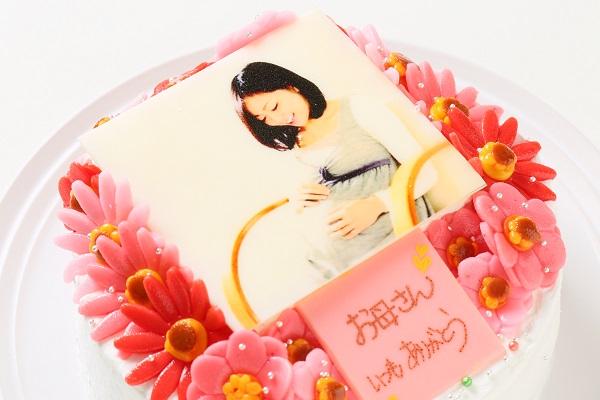 お花いっぱいフォトケーキ 生クリーム 5号 15cmの画像6枚目
