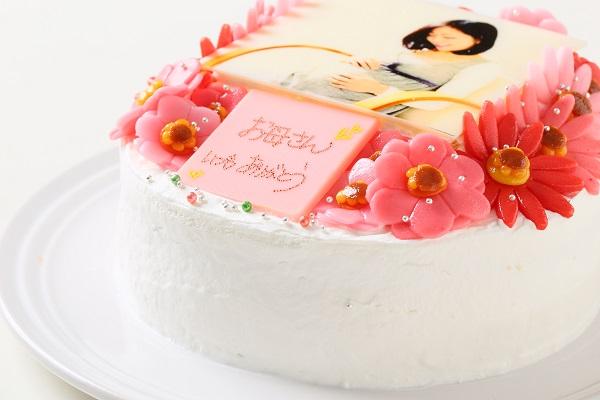 お花いっぱいフォトケーキ 生クリーム 5号 15cmの画像8枚目