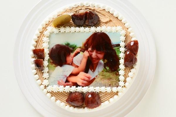 フォトケーキ モンブラン 4号 12cmの画像1枚目