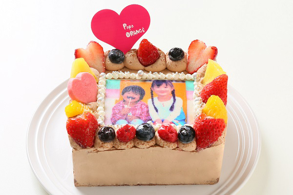 生チョコフォトケーキ 13×13cm