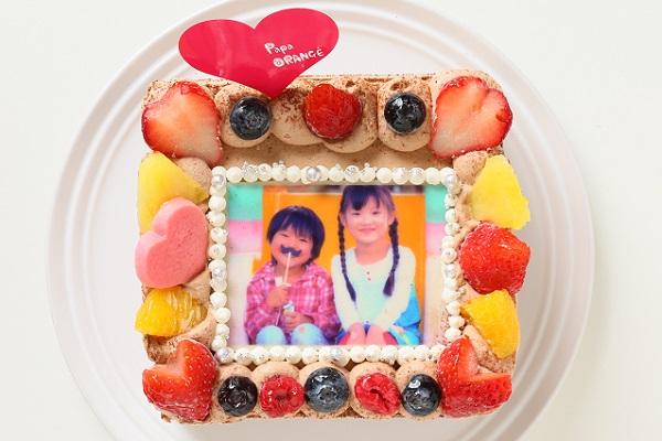 生チョコフォトケーキ 13×13cmの画像2枚目