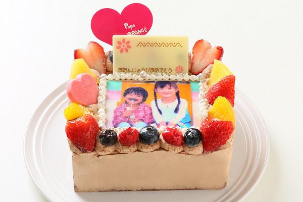 生チョコフォトケーキ 13×13cmの画像3枚目