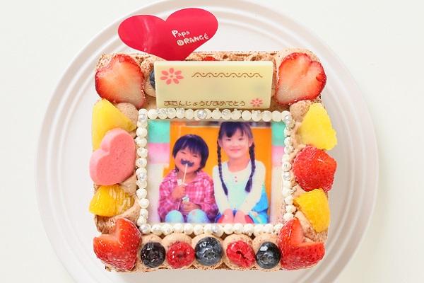 生チョコフォトケーキ 13×13cmの画像4枚目