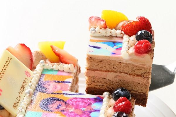 生チョコフォトケーキ 13×13cmの画像5枚目