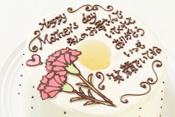 母の日 お手紙ケーキとカーネーション 直径17cmの画像6枚目