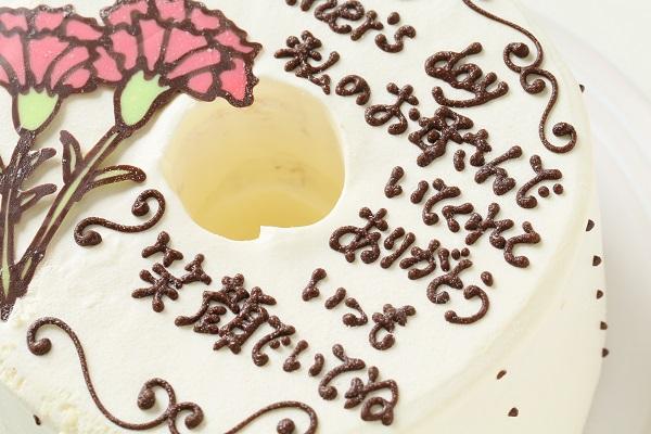 母の日 お手紙ケーキとカーネーション 直径17cmの画像7枚目