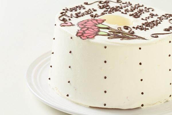 母の日 お手紙ケーキとカーネーション 直径17cmの画像8枚目
