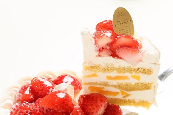 卵・乳製品・小麦除去可能 ナチュラルクリームケーキ 5号 15cmの画像3枚目