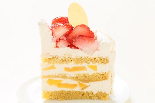 卵・乳製品・小麦除去可能 ナチュラルクリームケーキ 5号 15cmの画像4枚目