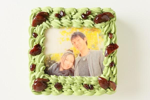 写真ケーキ抹茶 Mサイズ 18cm×18cmの画像2枚目