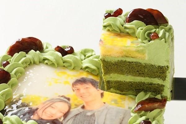 写真ケーキ抹茶 Mサイズ 18cm×18cmの画像3枚目
