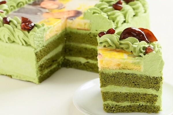 写真ケーキ抹茶 Mサイズ 18cm×18cmの画像5枚目