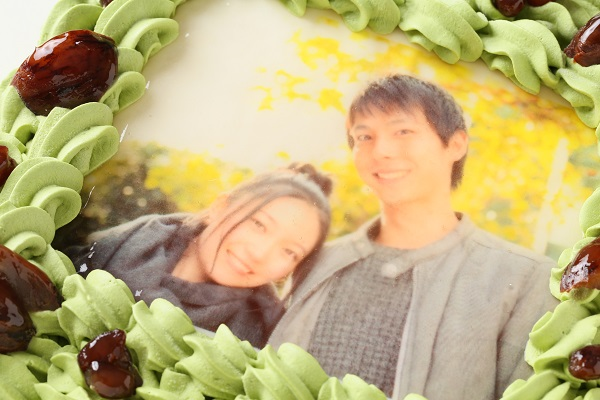写真ケーキ抹茶 Mサイズ 18cm×18cmの画像6枚目