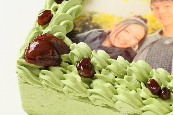 写真ケーキ抹茶 Mサイズ 18cm×18cmの画像7枚目