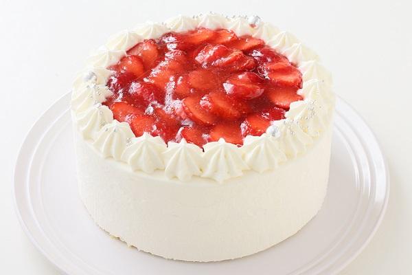 苺デコレーションケーキ 4号 12cm