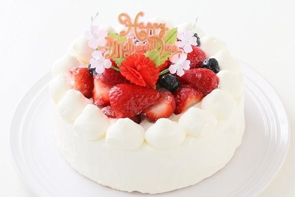 卵・乳製品除去 母の日スペシャル生ケーキ  5号 15cmの画像1枚目