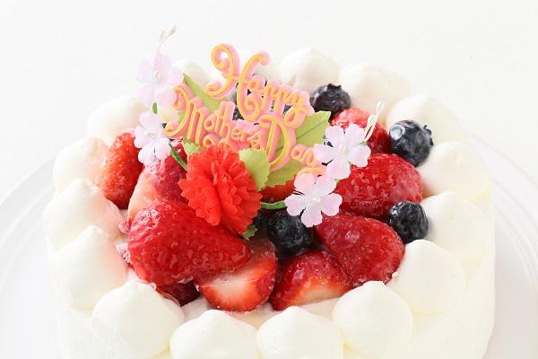 卵・乳製品除去 母の日スペシャル生ケーキ  5号 15cmの画像6枚目